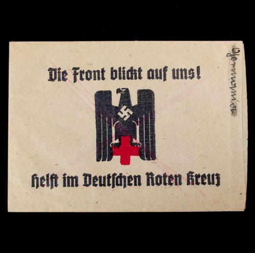 Die Front blickt auf Uns! Helft im Deutschen Roten Kreuz! DRK Spendentüte (Donationbag)