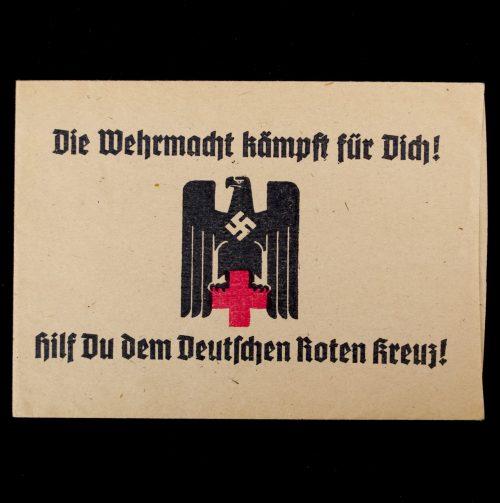 Die Wehrmacht Kämpft für Dich! Hilfst du dem Deutschen Roten Kreuz! DRK Spendentüte (Donationbag)