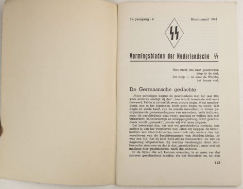 Dutch-SS – SS Vormingsbladen Jrg 1. No.4