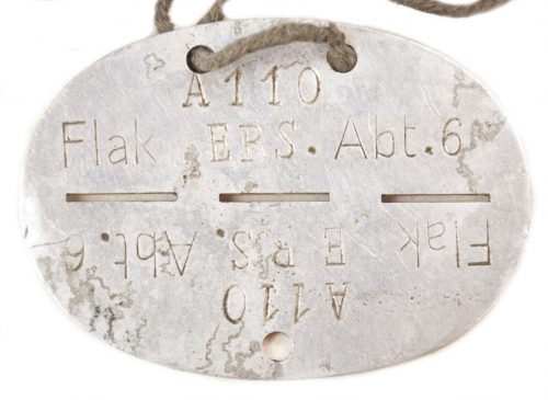 Flak Erkennungsmarke / EKM Flak Ers. Abt. 6