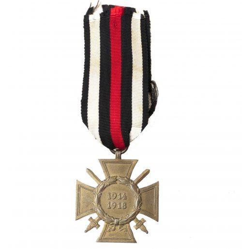 Frontkämpfer Ehrenkreuz with swords (Hindenburgkreuz)