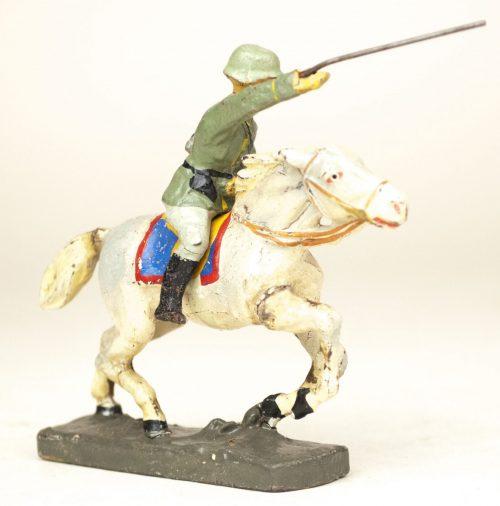 """German Soldier toyfigure """"storming horserider"""" (Reiter)"""
