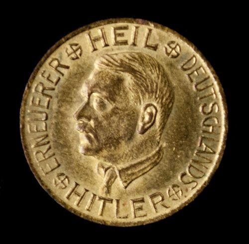 Heil Deutschlands Erneuerer Hitler - Opferspende coin