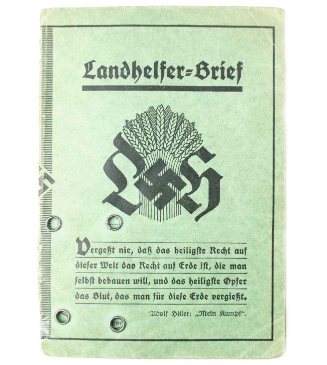 Landhelferbrief from Hannover 1934 (with passphoto)