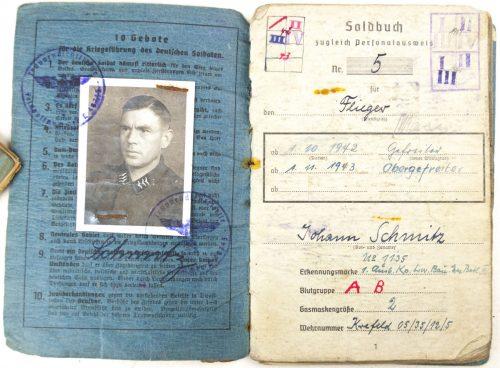 Luftwaffe Soldbuch 1. Ausbildungs Kompanie Luftwaffe Bau Ersatz batl. III