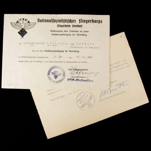 NS Fliegerkorps Fliegerheim Ferndorf documents
