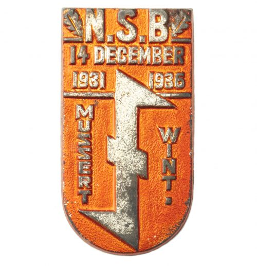 NSB 5 Year Existence badge: Mussert Wint 14 december 1931 - 1936