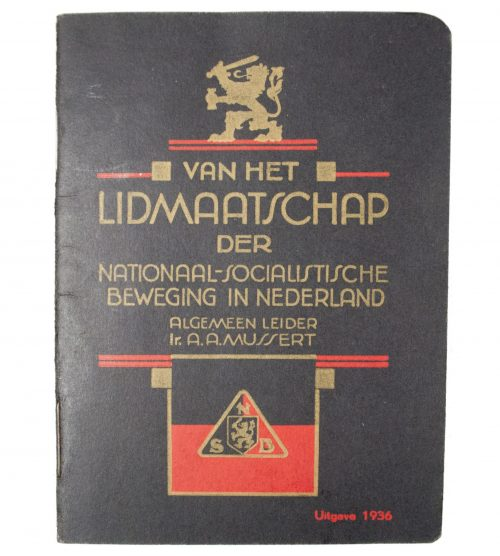 NSB Lidmaatschapsboekje / NSB memberpass Uitgave 1936 (interesting Stamboeknummer!)