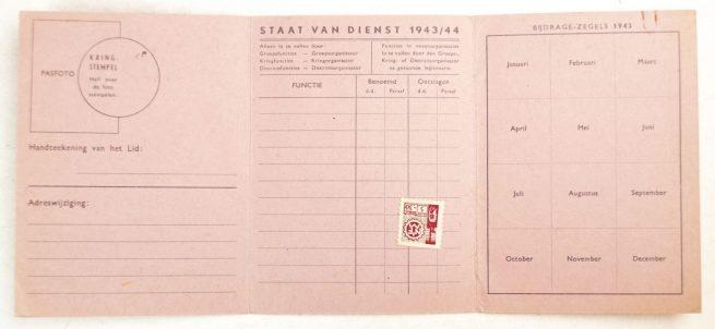 NSB Lidmaatschapskaart 1943/44 (NSB Membershipcard)