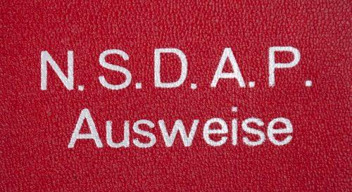 NSDAP Memberbooklet red cover map