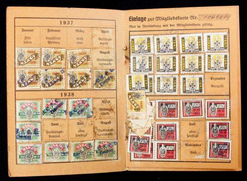 National Sozialistische Kriegsopfer Versorgung (NSKOV) Mitgliedskarte (1934)