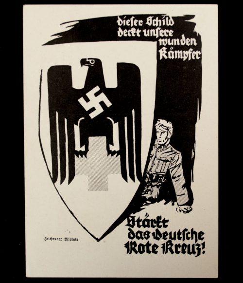Postcard: 1. KDF Postwertzeichen Ausstellung für das Deutsche Rote Kreuz Berlin (DRK)