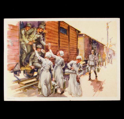 Postcard: (DRK) Das wirken des Deutschen Roten Kreuzes