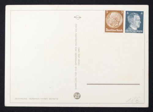 Postcard (DRK) Sammlung für das Opferwerk des Deutschen Volkes (WHW und DRK) - Es leuchten die Sterne