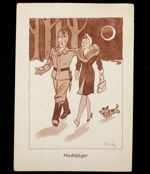 Postcard (DRK) Sammlung für das Opferwerk des Deutschen Volkes (WHW und DRK) - Nachtjäger
