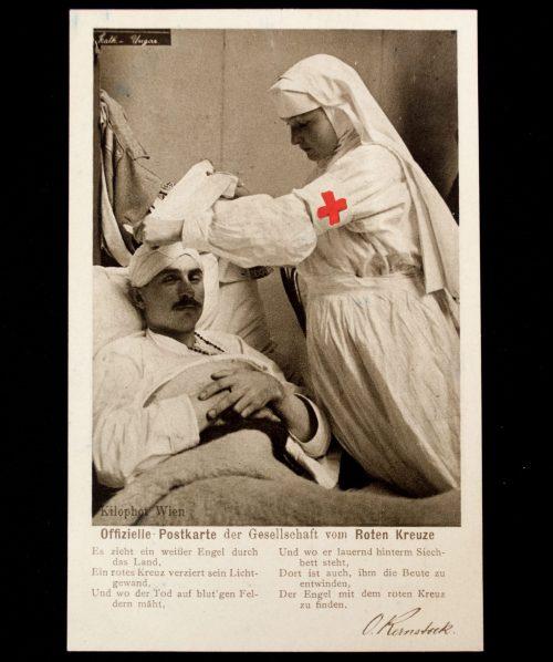 Postcard: (DRK) WWI Gesellschaft vom Deutsche Roten Kreuze 1914