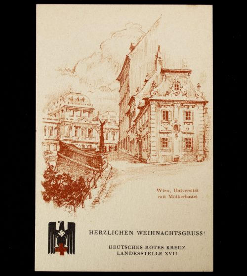 Postcard: Deutsches Rotes Kreuz (DRK) Landesstelle XVII: Herzlichen Weihnachtsgruss!