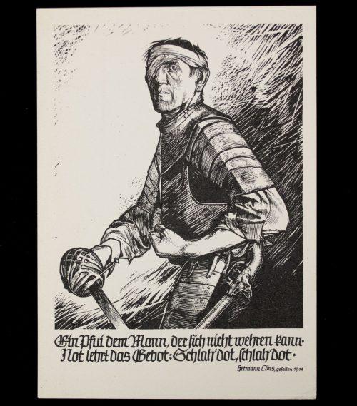 Postcard: Hilfswerk des Deutschen Roten Kreuzes (DRK) - Schlah' Dot!