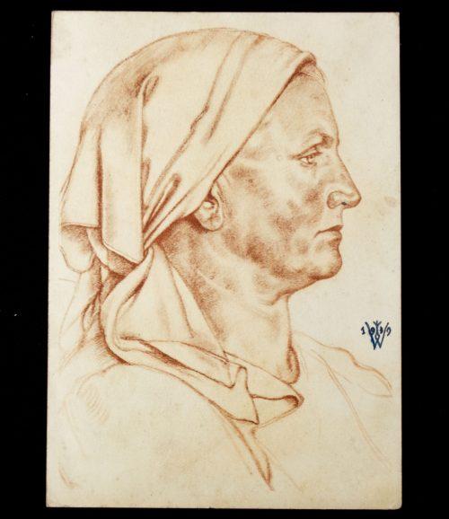 Postcard: W. Willrich - Förstersfrau aus dem Buchenland