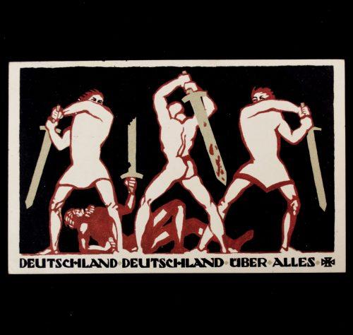 Postcard: WWI Roten Kreuz (DRK) - Deutschland, Deutschland über Alles! Central-Komitee der Deutschen Vereine vom Roten Kreuz