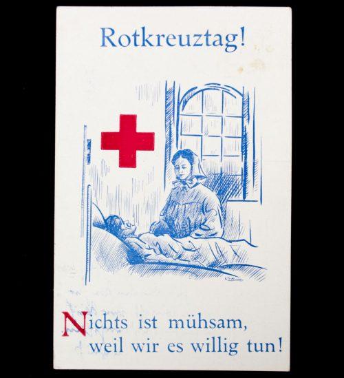 Postcard: WWI Rotkreuztag Nicht ist mühsam, weil wir es willig tun!