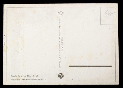 Postcard: Wache in einem Fliegerhorst - Sammlung für das Opferwerk des Deutschen Volkes (WHW und DRK)