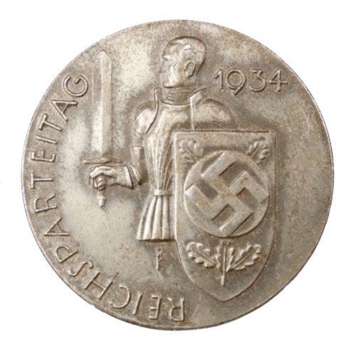 Reichsparteitag 1934 abzeichen + Einlasskarte