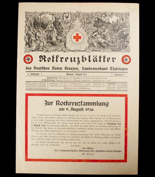 Rotkreuzblätter des Deutschen Roten Kreuzes, Landesverband Thüringen
