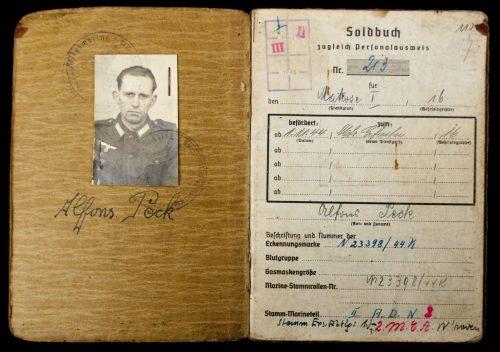 Soldbuch zugleich Personalausweis Kriegsmarine