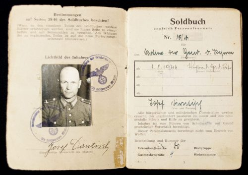 Soldbuch zugleich Personalausweis (Polizei Soldbuch)