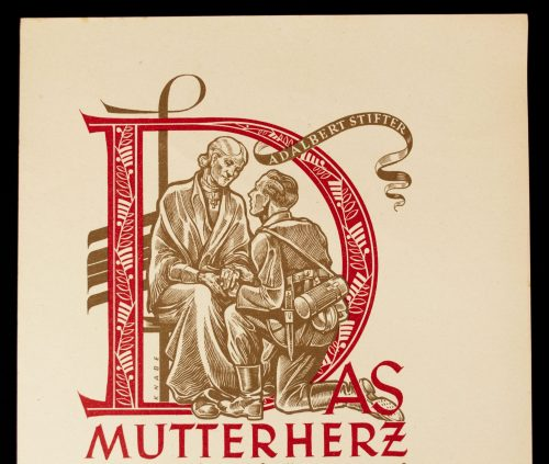 WWII German NSDAP Wochenspruch (propaganda miniposter) – Das Mutterherz