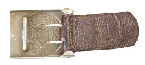 Wehrmacht (Heer) aluminium buckle + tab by maker H. Arld (1937)