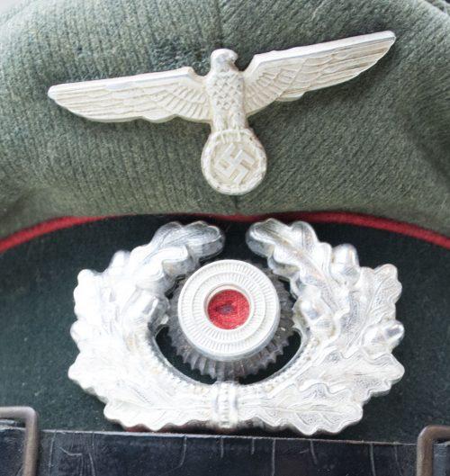 German Artillery NCO visor cap