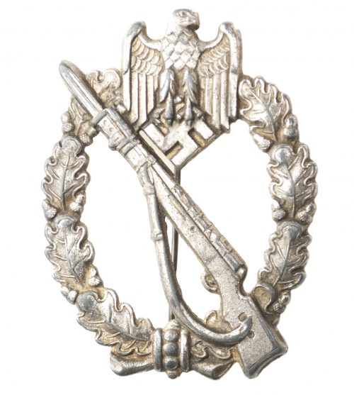Infanterie Sturmabzeichen (ISA) Infantry Assault Badge (IAB) in silver maker Rudolf Karneth