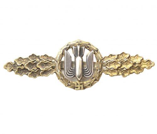 Luftwaffe Frontflugspange für Kampfflieger in gold (Bomber Flight Clasp)