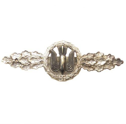 Luftwaffe Frontflugspange für Kampfflieger in silver (Bomber Flight Clasp)