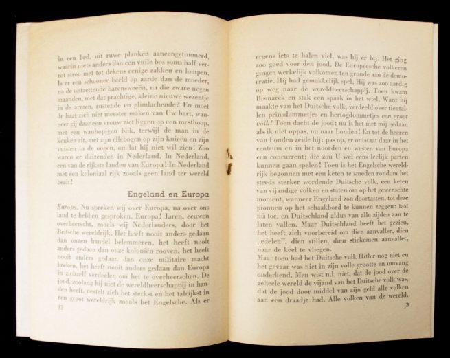 (NSB) Aanklacht tegen de oude wereld: roep om recht en orde (1942)