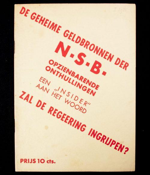 (NSB) De geheimegeldbronnen der NSB: opzienbarende onthullingen, zal de regeering ingrijpen? (1935)