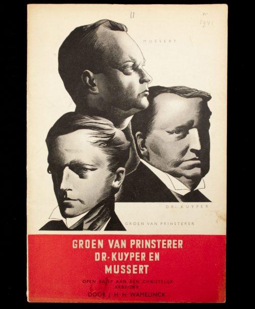 (NSB) Groenvan Prinsterer, Dr. Kuyper en Mussert (1941)