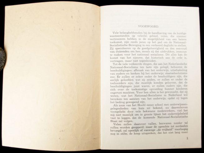 (NSB) Grondslagen voor het lager- en middelbaar onderwijs in den Nationaal-Socialistischen staat (1938)