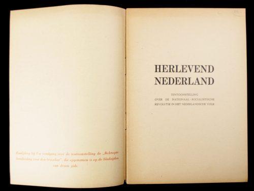 (NSB) Herlevend Nederland - Tentoonstelling over de Nationaal Socialistische Revolutie in het Nederlandsche Volk (1942)