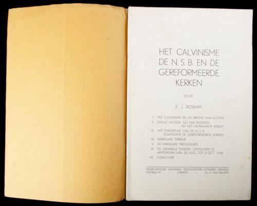 (NSB) Het Calvinisme,de NSB en de Gereformeerde kerken (1937)