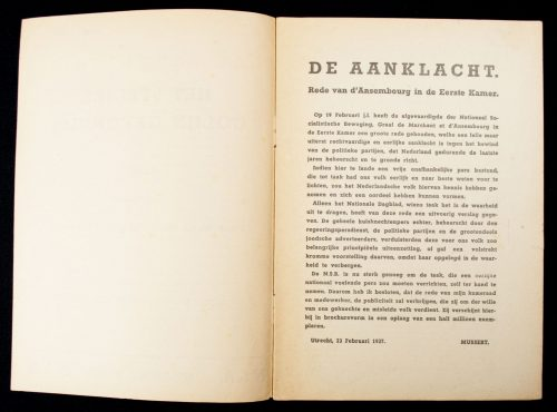 (NSB) - Het stelsel Colijn gevonnist (1937)