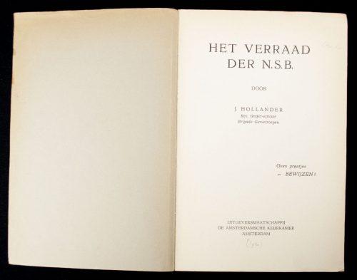 (NSB) Het verraad der NSB : geen praatjes - bewijzen (1940)