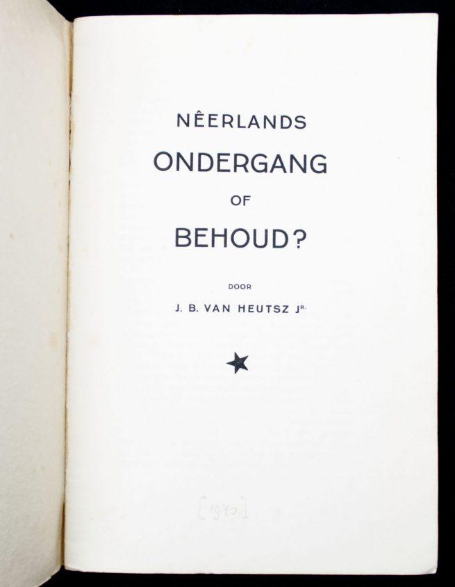 (NSB) J.B. van Heutsz jr. - Neerlands Ondergang of Behoud (1941)