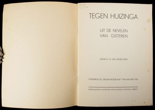 (NSB) Tegen Huizinga : uit de nevelen van gisteren (1936)