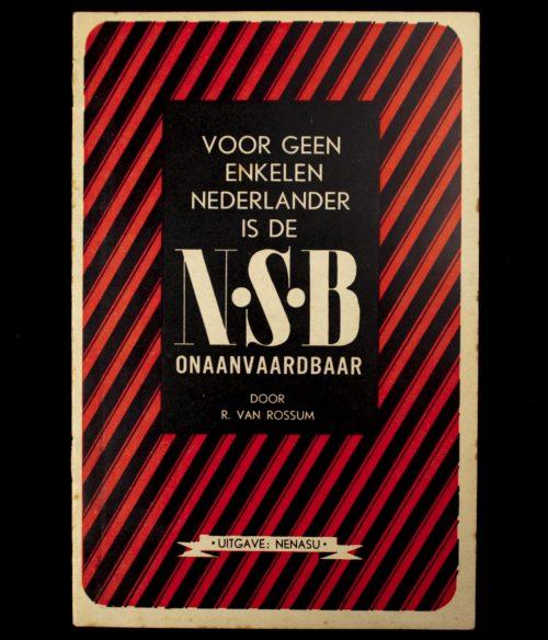 (NSB) Voor geenenkelen Nederlander is de NSB onaanvaardbaar (1941)