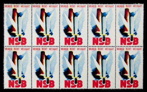 "NSB ""sluitzegels"" / closingstamps (10 in a block)"