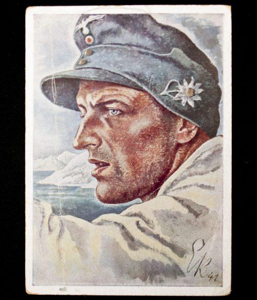 Postcard: Narvikkämpfer (Kriegsberichter Kretschmann)