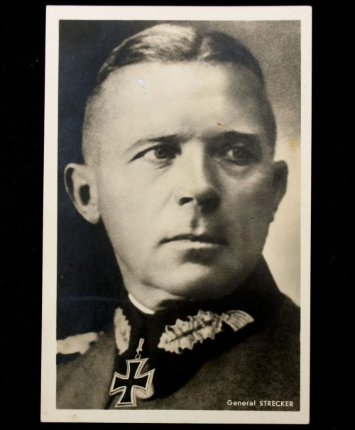 Postcard: Ritterkreuzträger General Strecker (Photo Hoffmann)